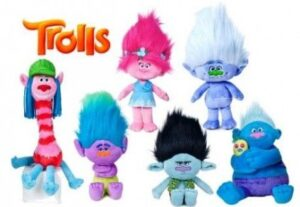 peluches de Trolls world tours